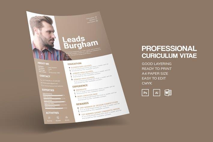 Thumbnail for Professional CV Resume