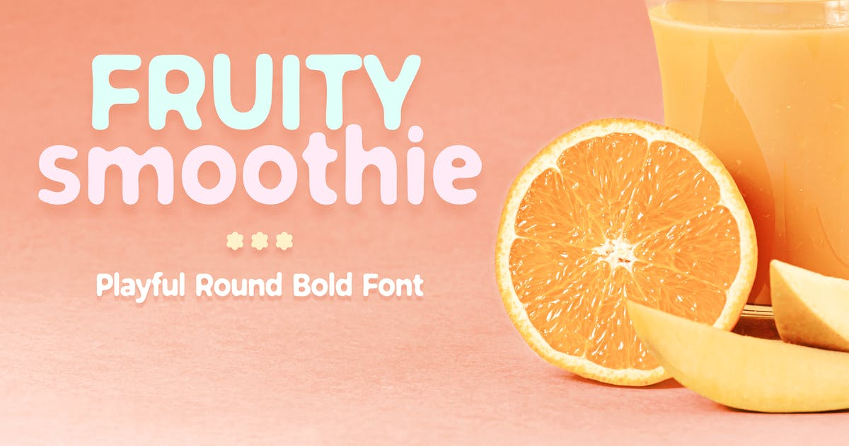 Download Fruity Smoothie Font by vasaki