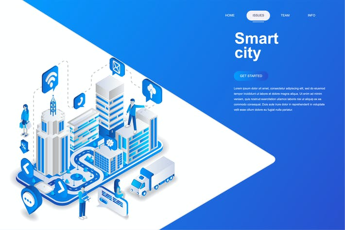 Thumbnail for Smart City Isometric Concept