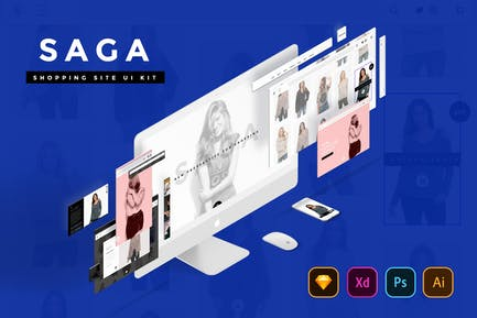 SAGA Creative Shopping Website UI Kit