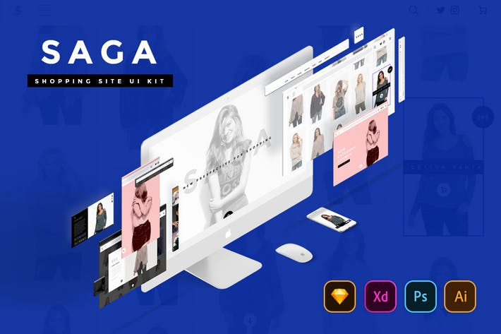 Thumbnail for SAGA Creative Shopping Website UI Kit