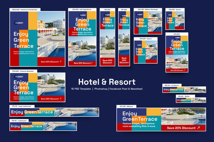 Thumbnail for Hotel & Resort Banners Ad