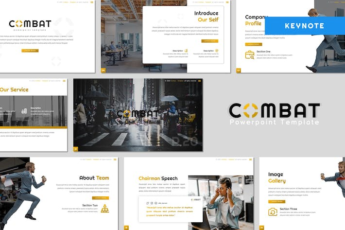 Thumbnail for Combat - Business Keynote Template