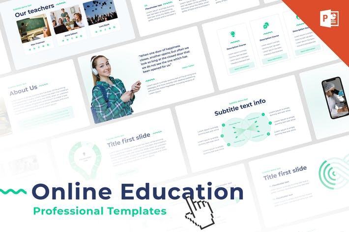 Thumbnail for Online Education PowerPoint Template