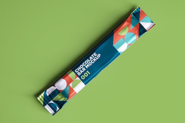 Макет шоколадного батончика 001