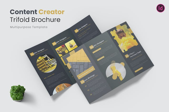 Thumbnail for Content Creator Trifold Brochure