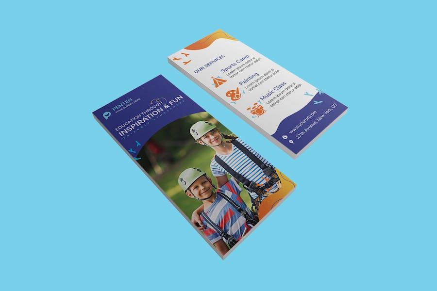 Kids DL Rackcard PSD Template