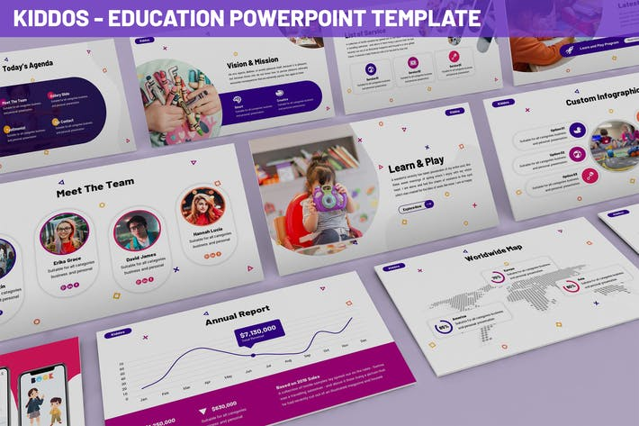 Thumbnail for Kiddos - Education Powerpoint Template