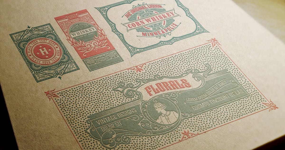 Download Set of 4 vintage labels  ready for packing by roverto007