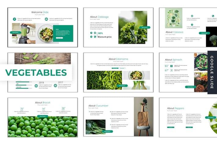 Овощи - Шаблон слайдов Google