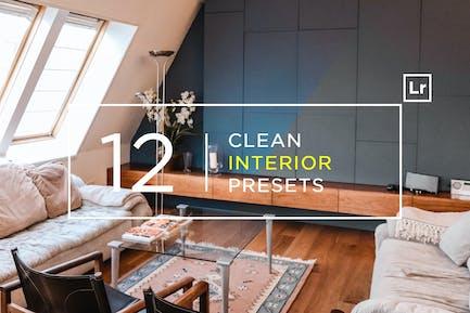 12 Clean Interior Lightroom Presets