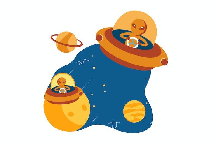 Thumbnail for Begegnung mit Aliens aus verschiedenen Planeten