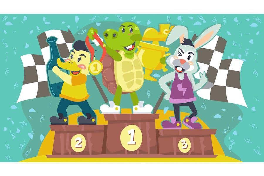 Fable Turtle Kids Illustration