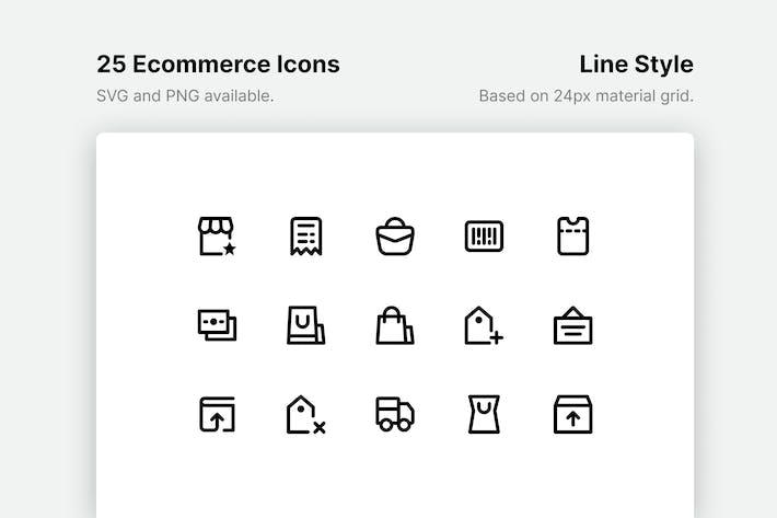 Thumbnail for Иконки линии электронной коммерции