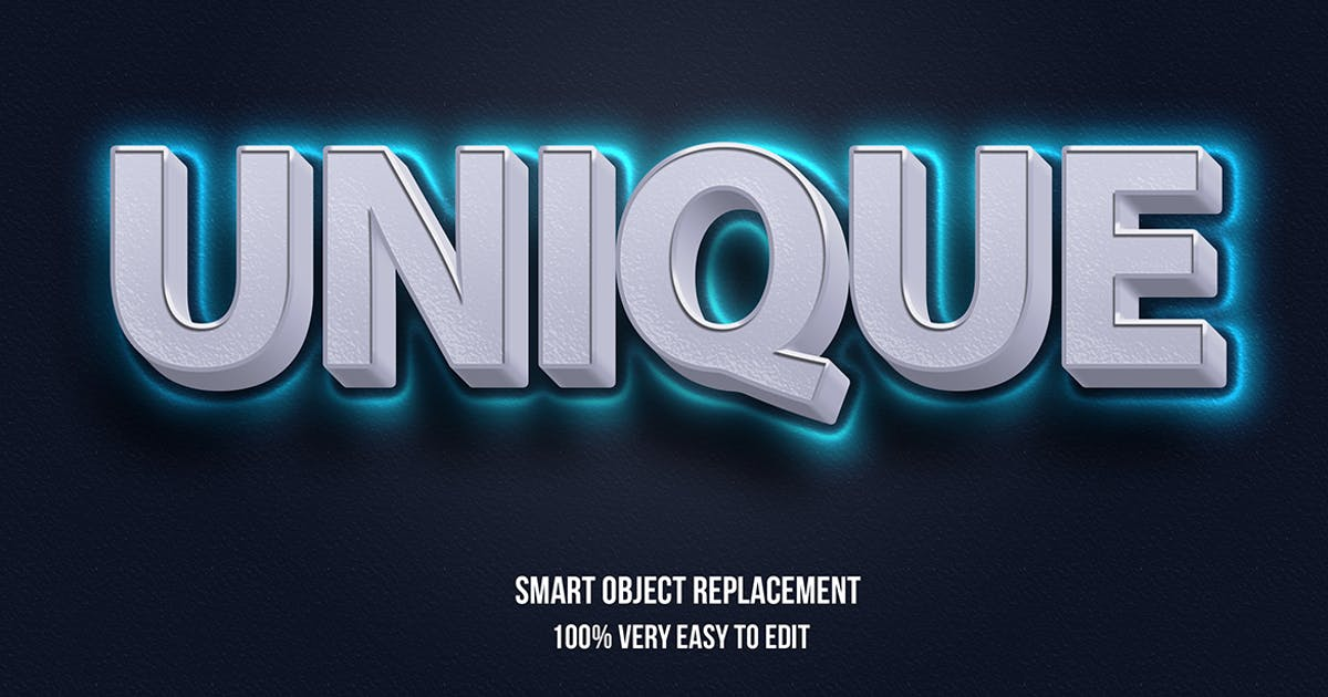 Download Unique blue glow text effect by wudelmbois