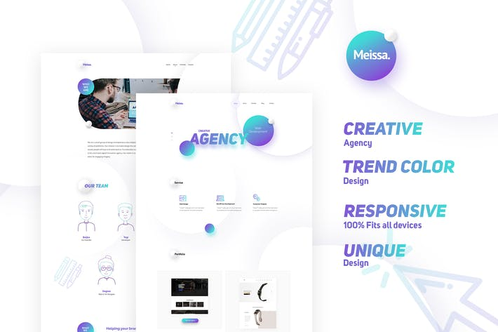 Thumbnail for Meissa Creative Modern Design For Digital Agencies