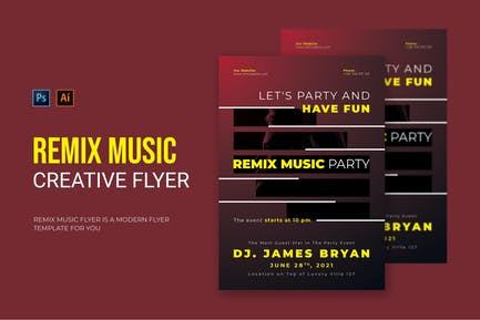 Remix Music Party - Flyer