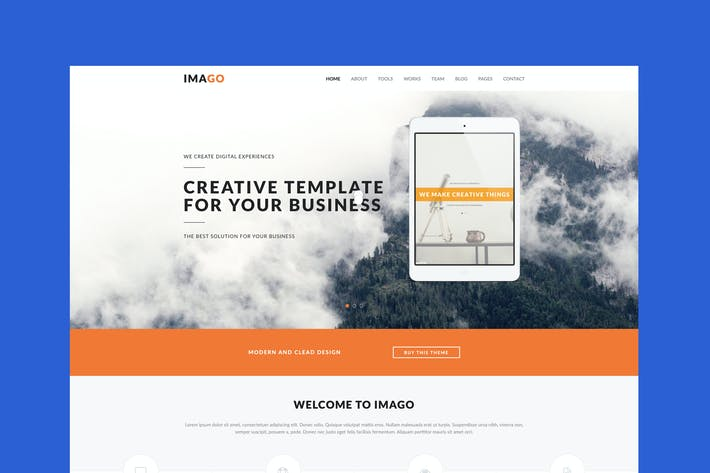 Thumbnail for Imago - Plantilla multiusos HTML5