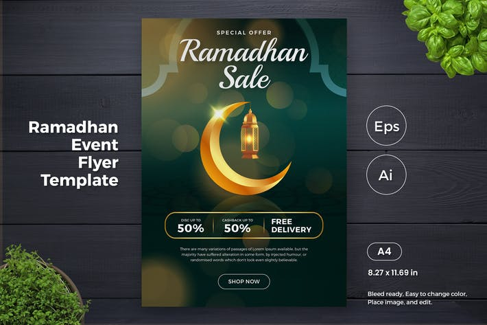 Thumbnail for Ramadan Kareem Sales Promotion Flyer 2 (GI)