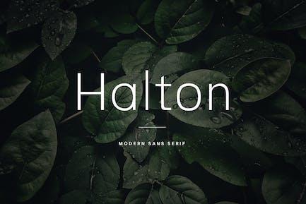 Halton - Modern Sans Serif Typeface