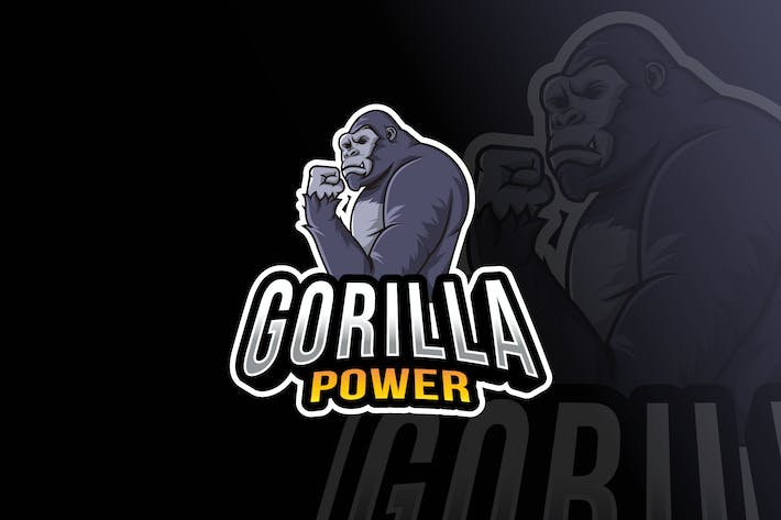 Thumbnail for Gorilla Power Logo Template