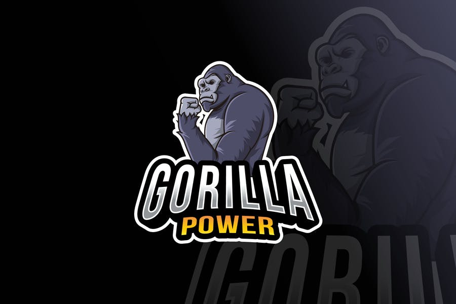Gorilla Power Logo Template