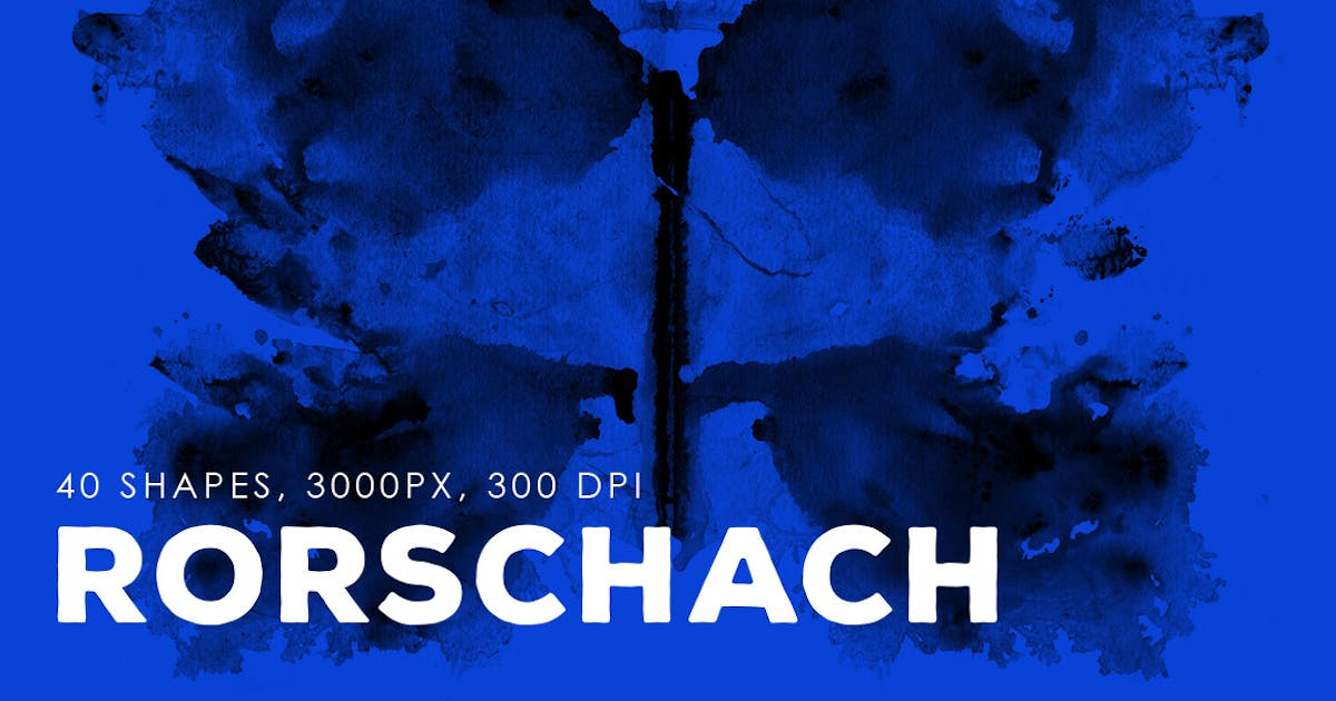 Download 40 Rorschach PNG Ink Shapes by M-e-f