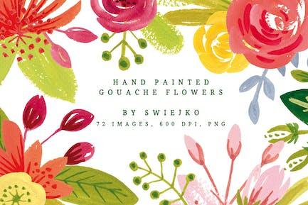 Simple Gouache Flowers