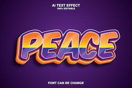 peace 3d text effect