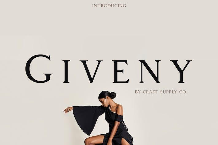 Thumbnail for Giveny - Classy Serif Font