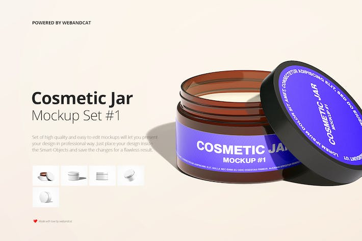 Thumbnail for Cosmetic Amber Jar Mockup