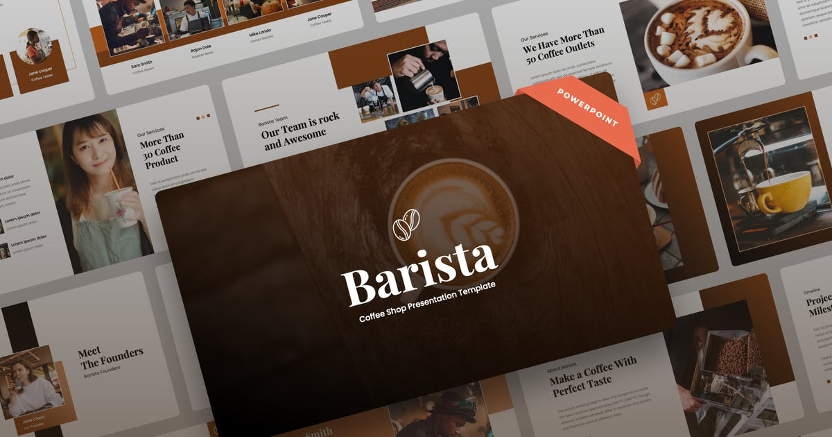 Download Barista - Coffee Shop Power Point Presentation by mhudaaa