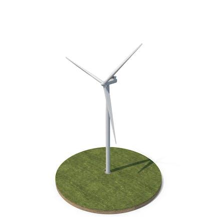 Wind Turbine on Ground