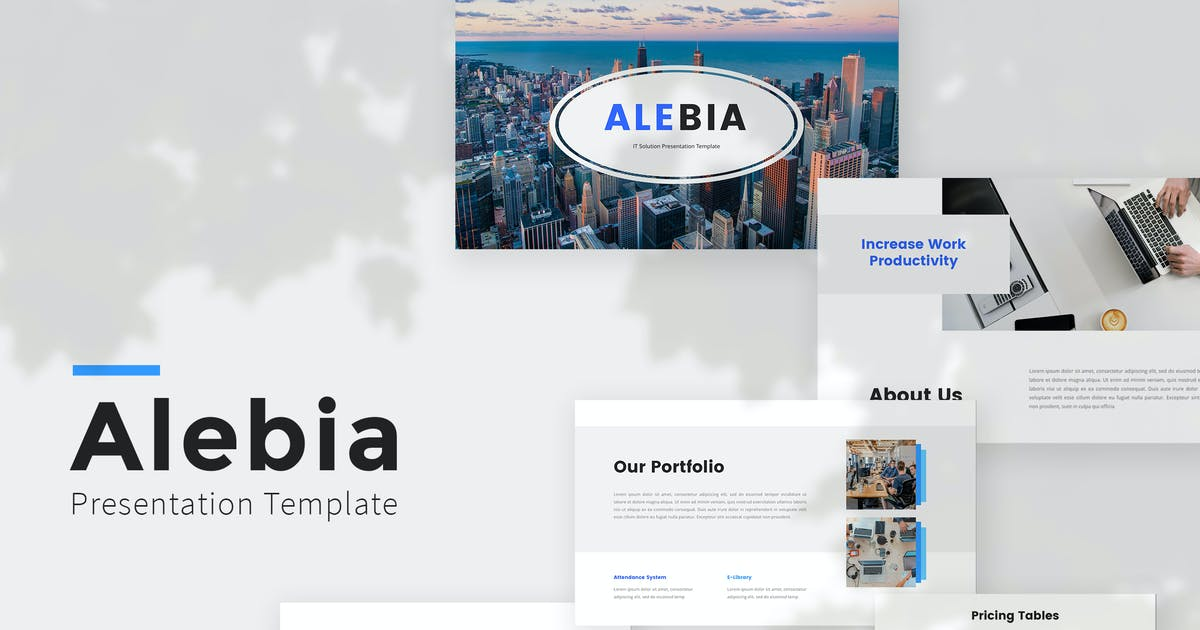 Download IT Solution PowerPoint Template by GoldenGraph