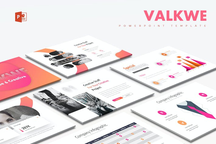 Thumbnail for Valkwe Creative - Powerpoint Template