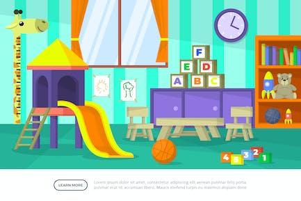 Kids Playground - Ilustración de fondo interior