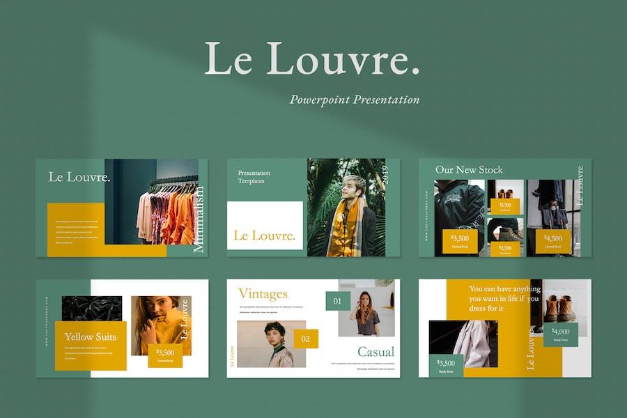 Le Louvre Fashion Powerpoint Presentation
