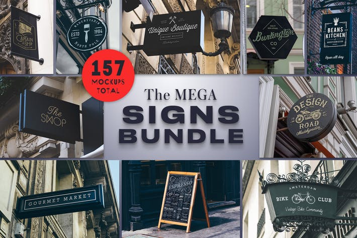 Cover Image For The Mega Signs Bundle