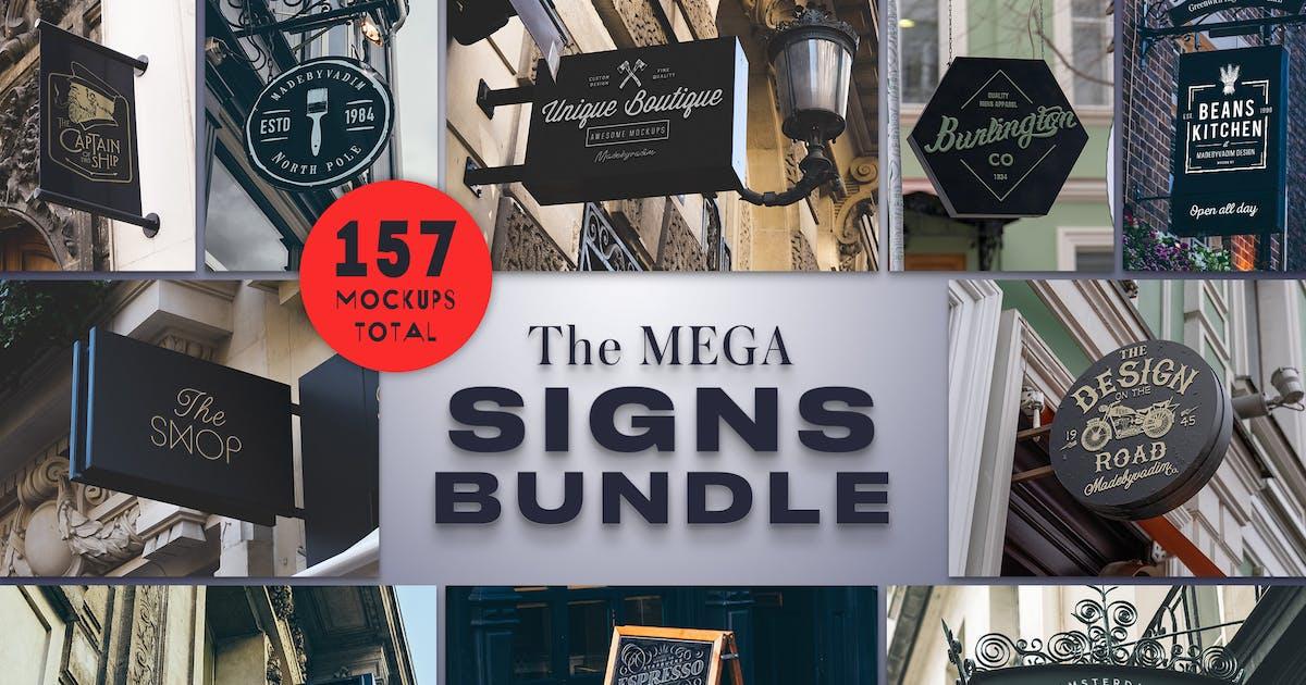 Download The Mega Signs Bundle by Madebyvadim