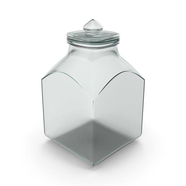 Thumbnail for Glass Square Jar Closed