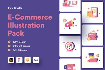 E-Commerce Spot Illustration UZ