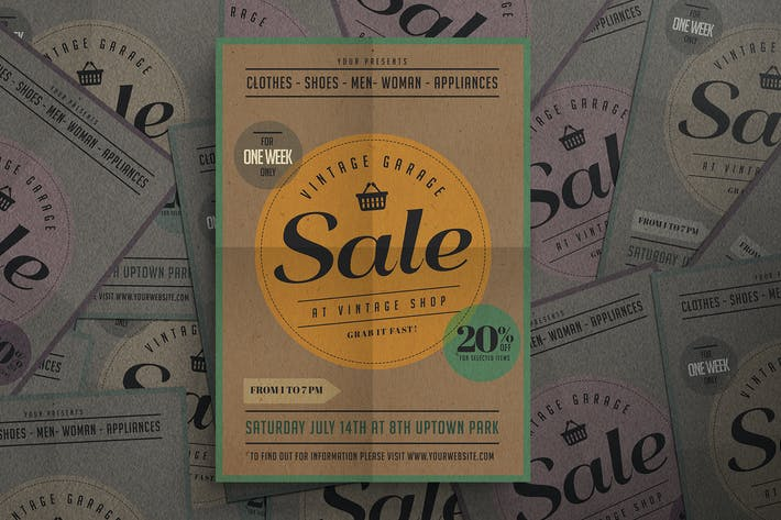 Thumbnail for Vintage Sale Flyer