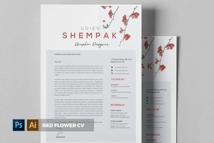 Thumbnail for Red Flower | CV & Resume