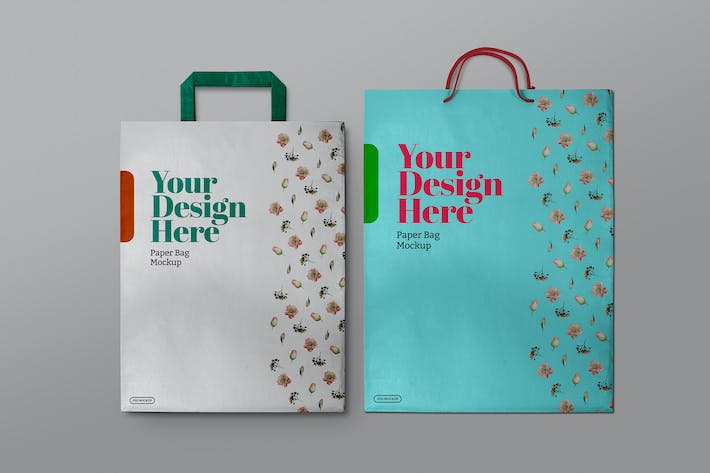 Thumbnail for Shopping Paper Bags Mockup