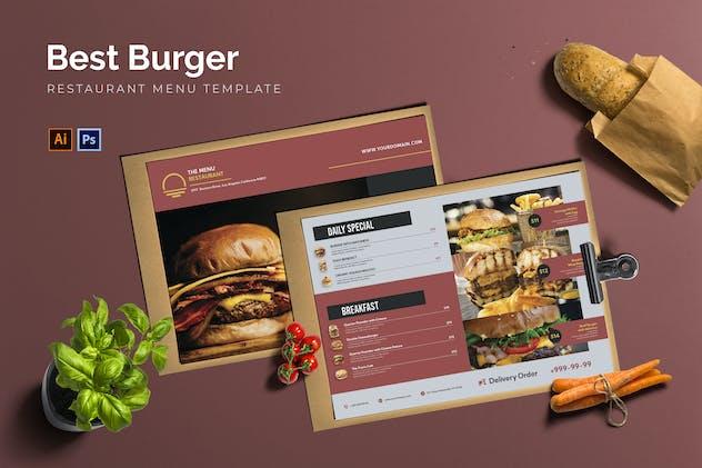 Best Burger Menu - Restaurant Menu