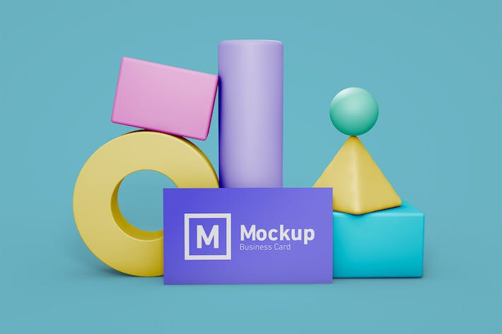 Thumbnail for Business Card Still Life Mockup