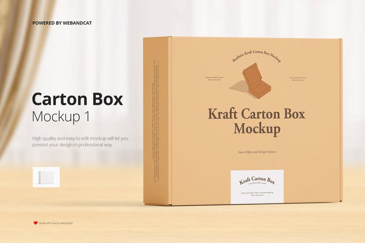 Mailing Kraftkarton Box Mockup