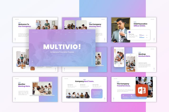 Thumbnail for Multivio - Business Powerpoint Template