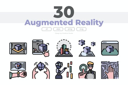30 Augmented Reality Icons