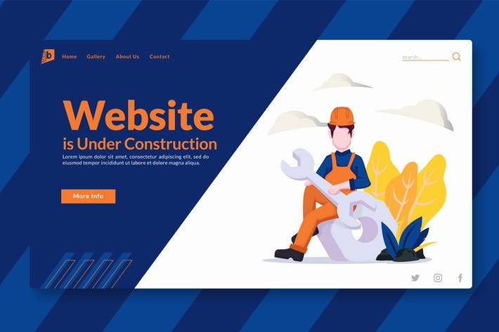 Thumbnail for Website is Under Construction - Landing-Page GR